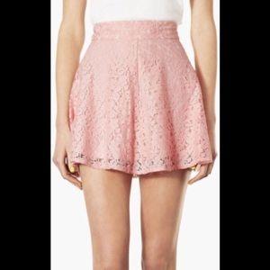 Topshop High Waist Lace Skater Skirt